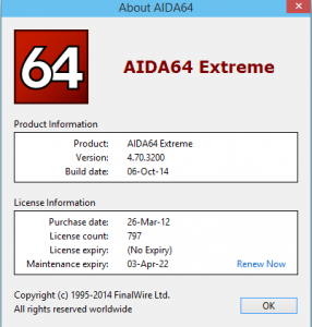 FinalWire All Products (AIDA64) 2014 v4.x.x Serial Keys Are Here ! [Latest] 3