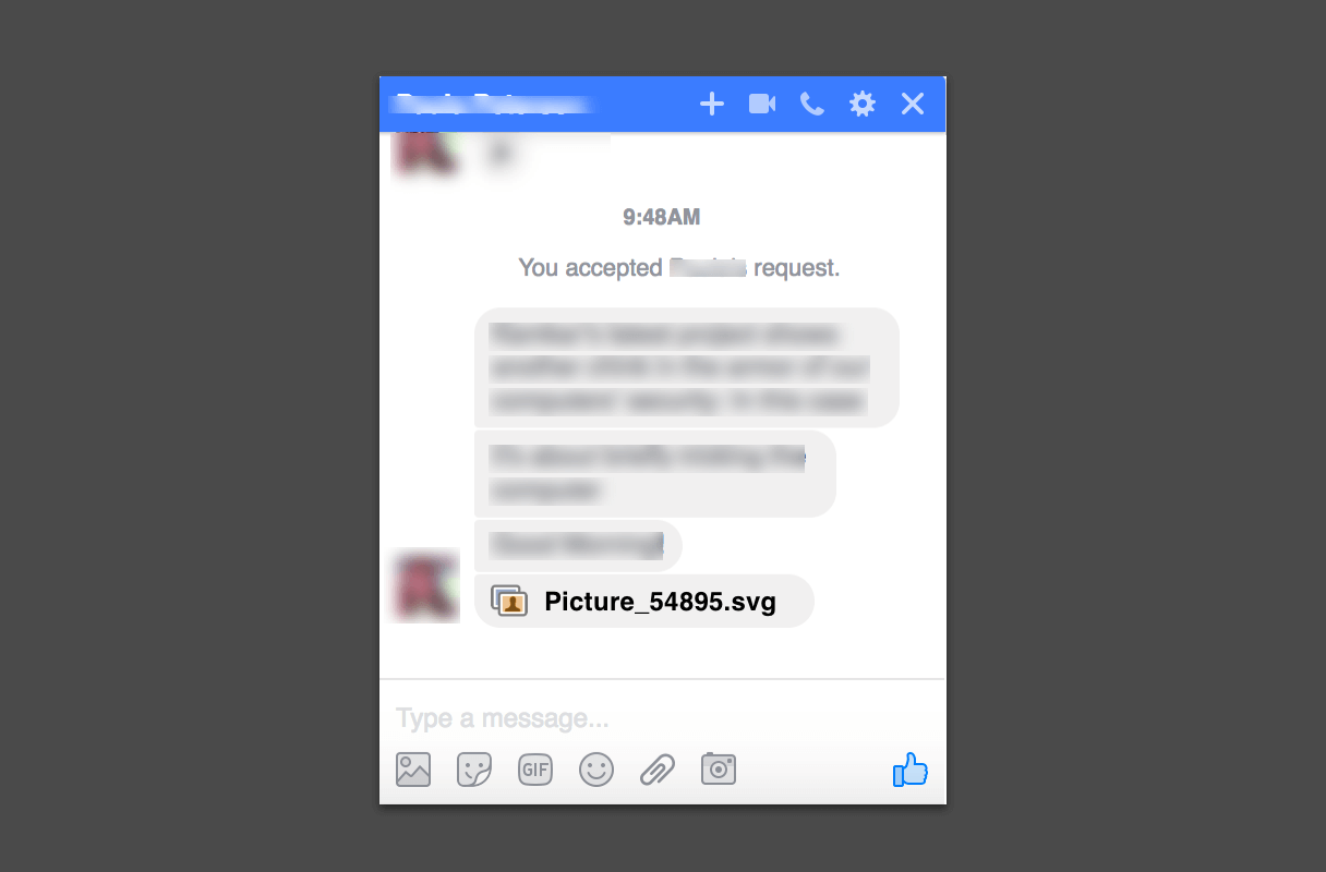 Facebook SPAM Alert! – Malicious SVG File is Spreading through Facebook Messages 1