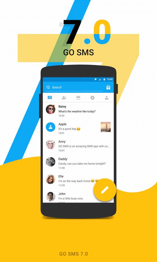 GO SMS Pro Apk Premium 7.13 build 361 Mod Here ! 1