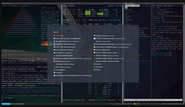 EndeavourOS 2020 i3 - window manager